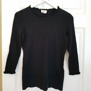 Kate Spade Bekki black cashmere blend sweater